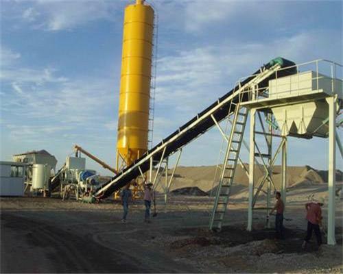 混凝土搅拌站生产过程中一般采用自动工作模式