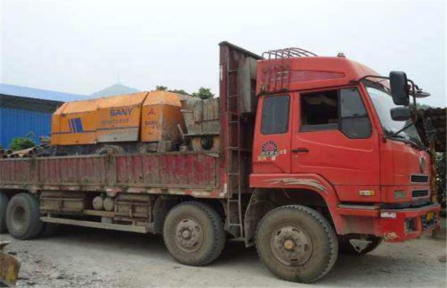 车载式混凝土泵车维修案例
