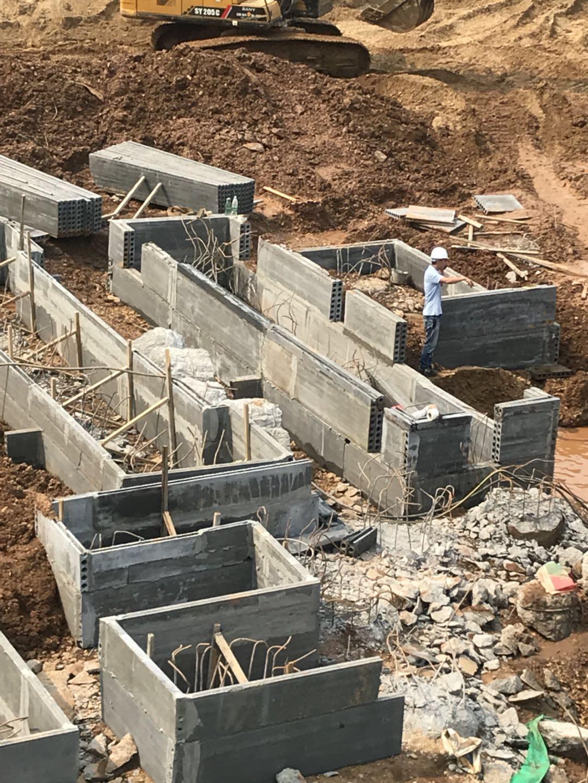 长沙地下室预制砖胎膜施工