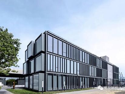 集装箱改造为办公室,露原有结构展现工业新风