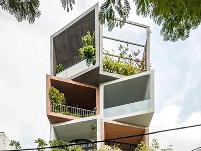 """交互堆叠的盒子——越南""""花园城市""""公寓"""