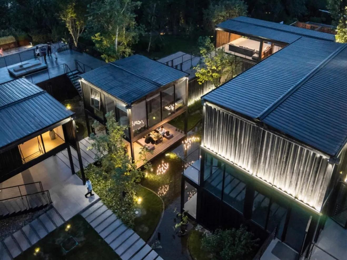 集装箱对于中式园林建筑的表达---朝花夕拾生活馆