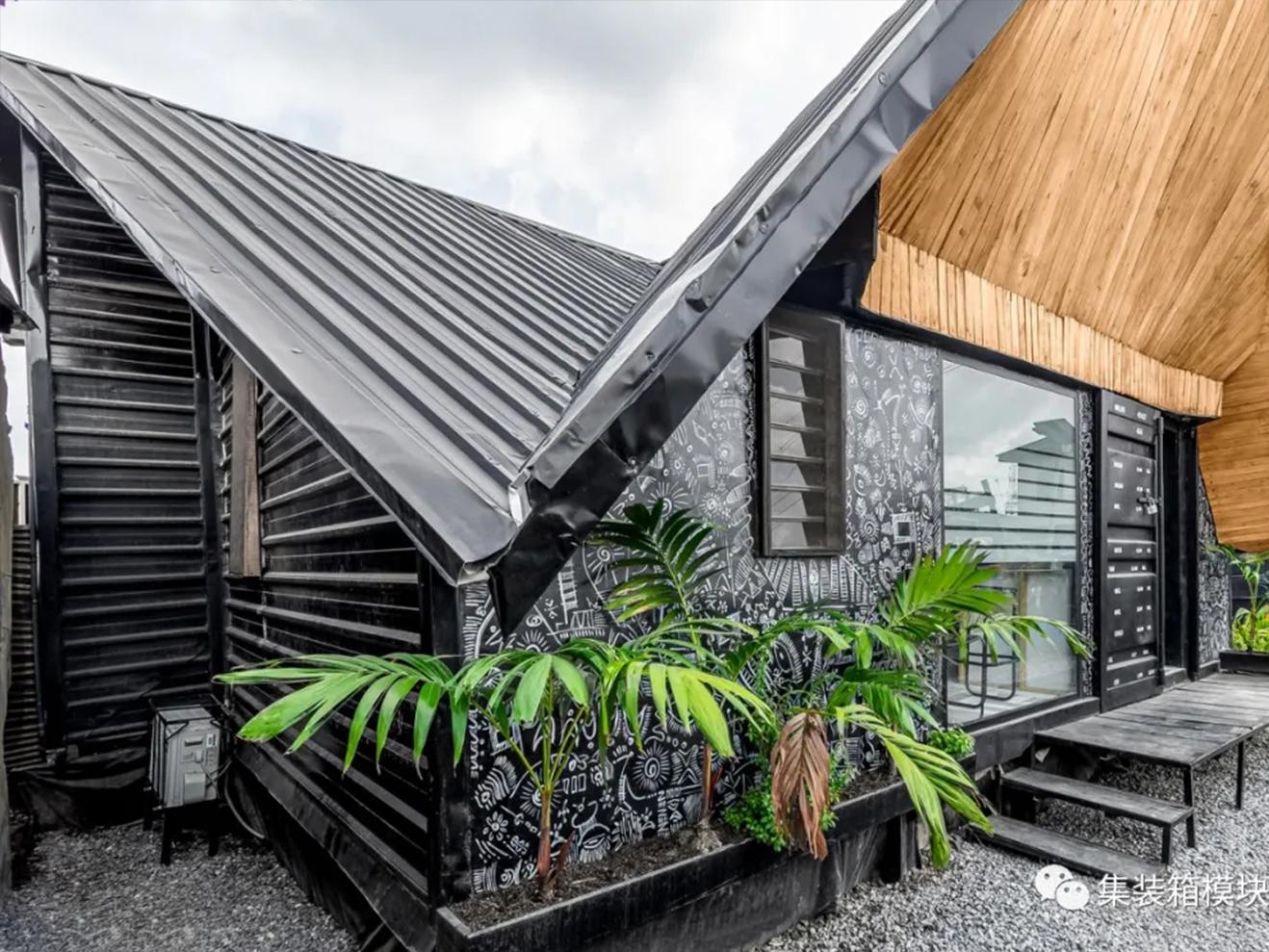 受'折纸'艺术启发的集装箱结构建筑,尼日利亚墨线工作室!
