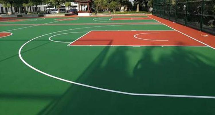 重庆塑胶篮球场施工