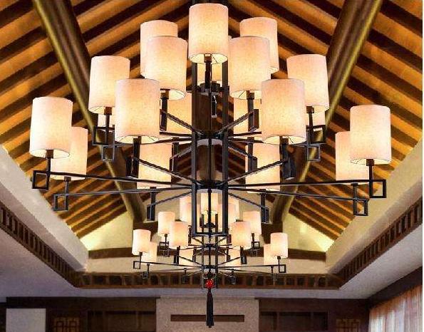 中式酒店大堂吊灯