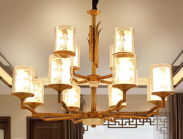 简约新中式客厅吊灯