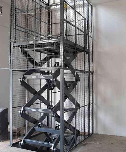 固定电动液压升降货梯
