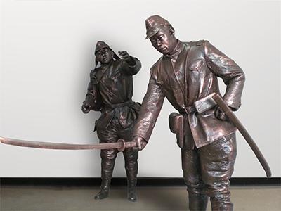 山西太行八路军抗战馆雕塑