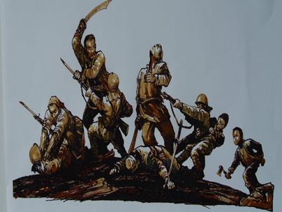 抗日战争纪念馆手绘