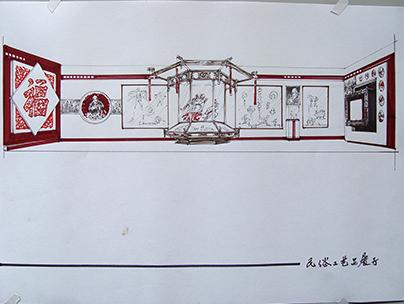 民俗文化馆手绘