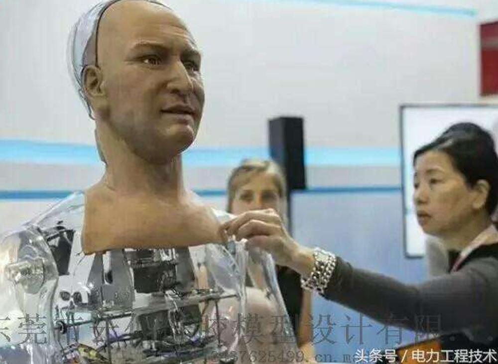 仿真机器人硅胶像国外技术