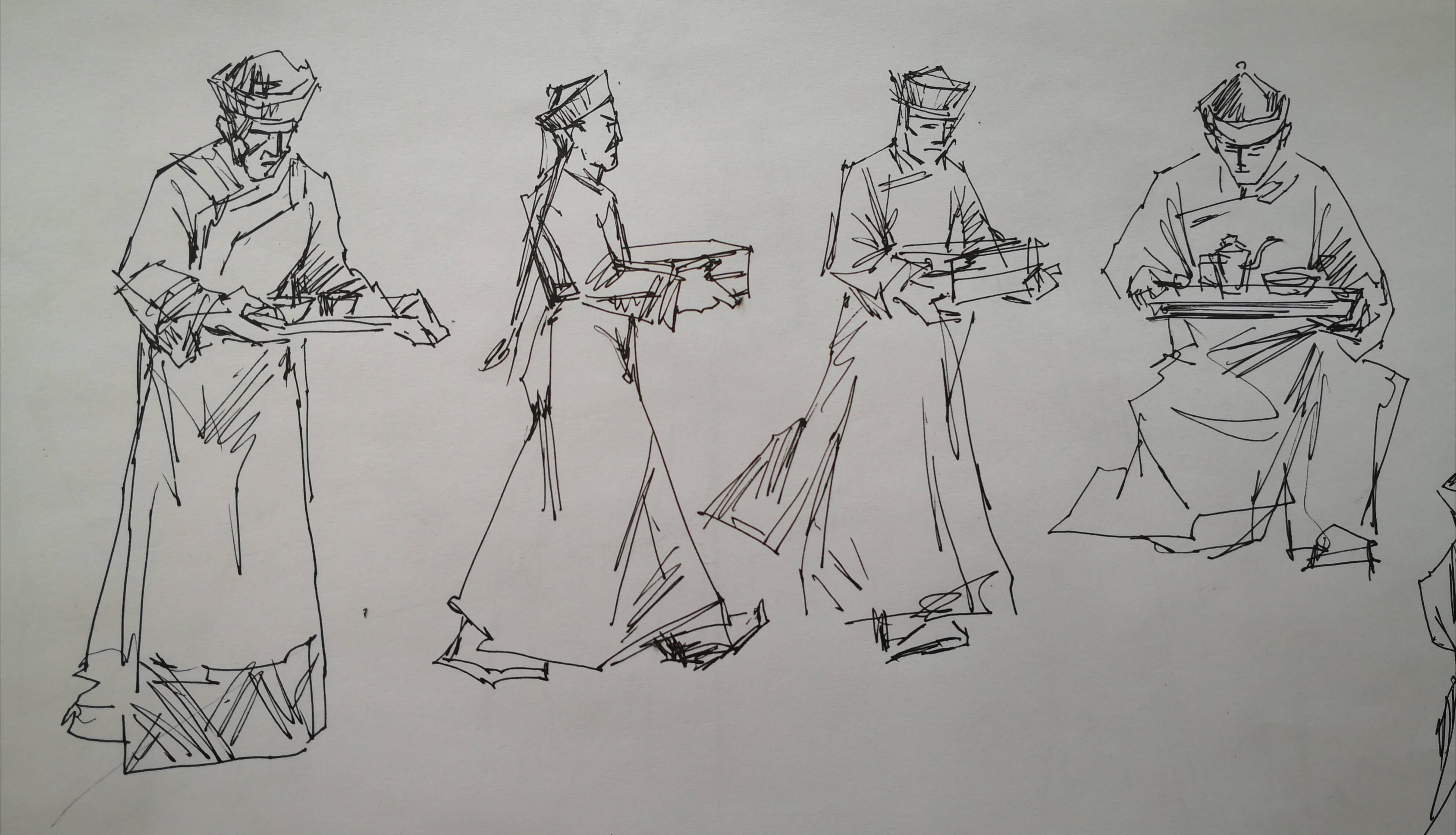 皇家菜博物馆人物手绘