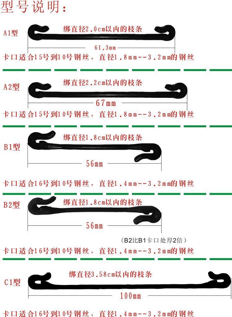 西安绑枝卡价格,葡萄绑枝卡的五大优点
