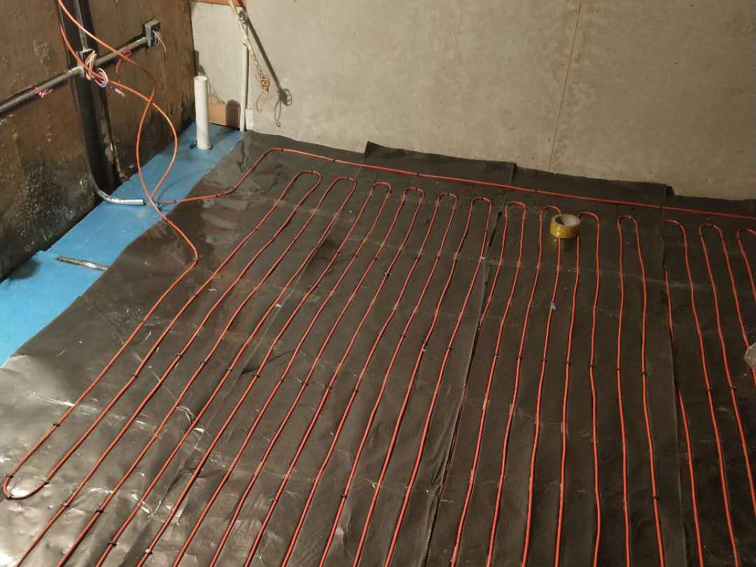 干式免回填模块电地暖