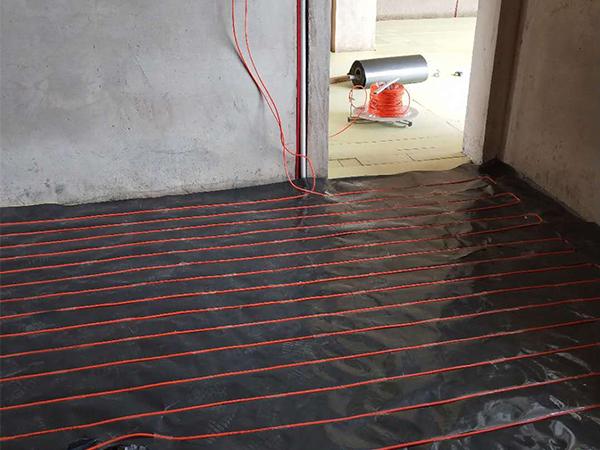 甘肃白银市别墅群石墨超导热模块免回填电地暖安装工程