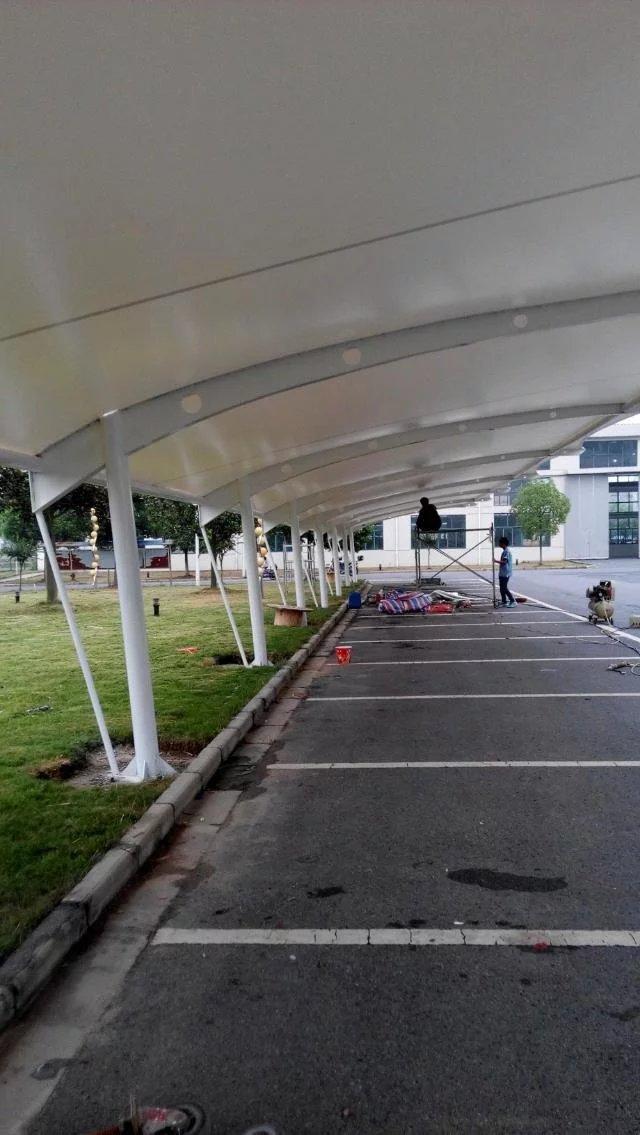 膜结构停车棚施工建设