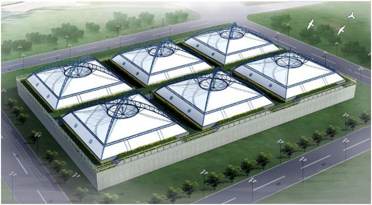 污水池加盖膜结构的环保功能