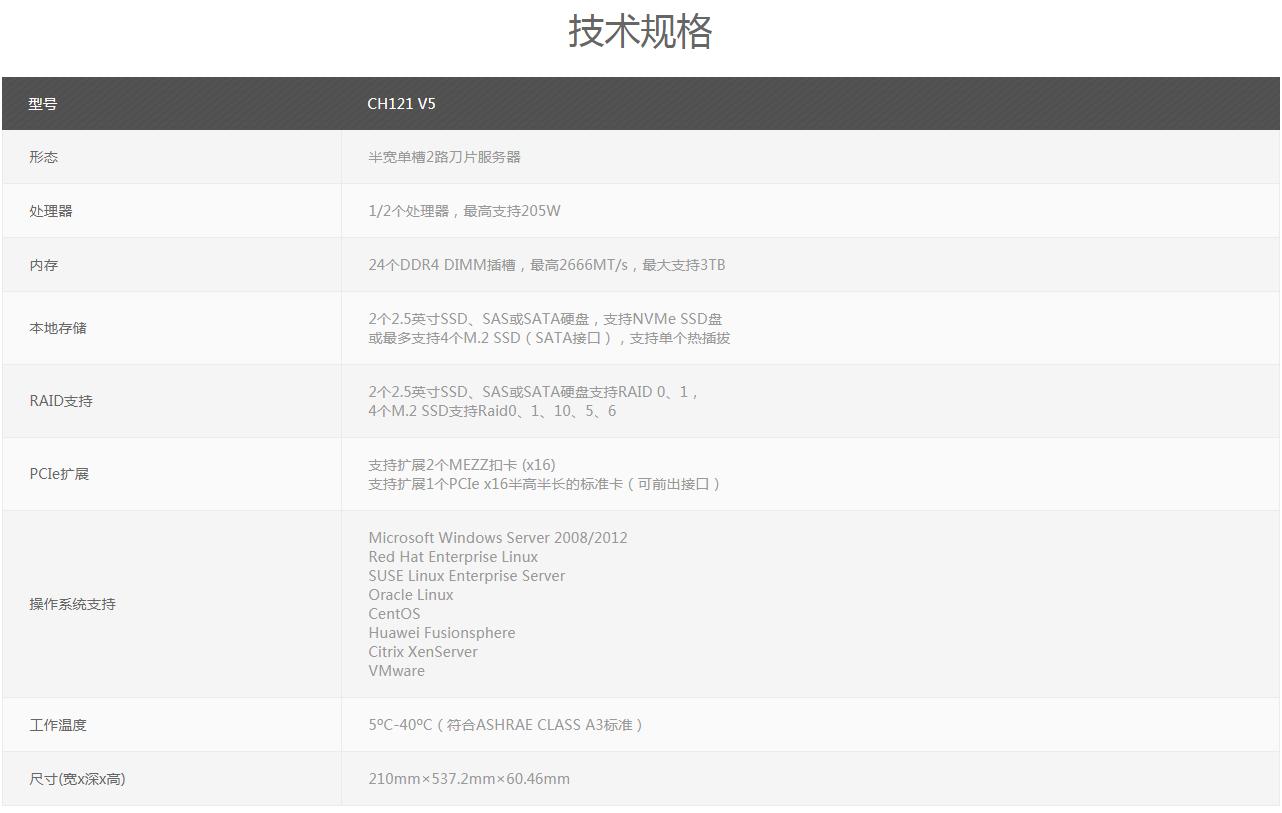 杭州华为CH121 V5半宽计算节点