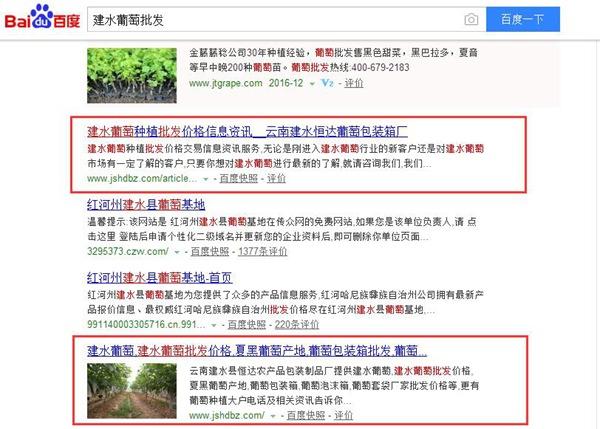云南建水恒達葡萄包裝箱廠SEO優化案例展示