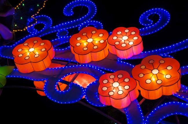 江苏中秋节花灯