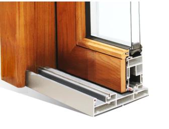 Wood grain finish aluminium profile