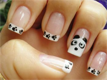 武汉美甲培训学校推荐可爱熊猫美甲