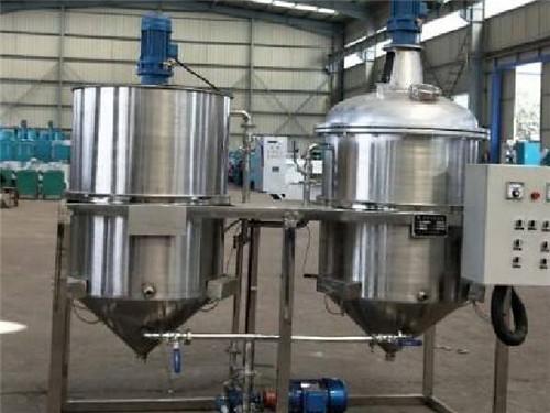 两罐半吨食用油精炼机