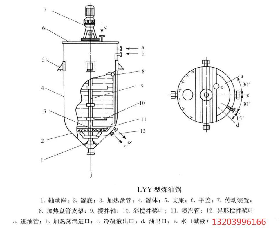 炼油锅结构图