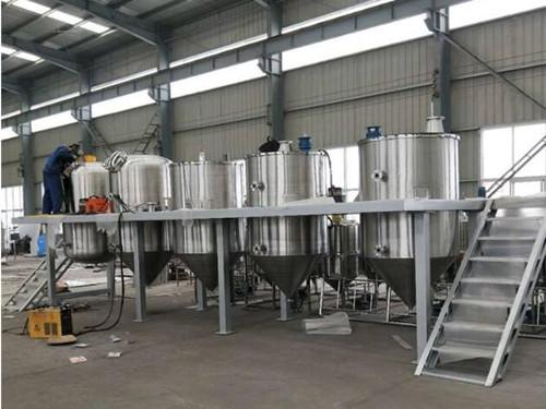 成品棕榈油精炼设备生产线