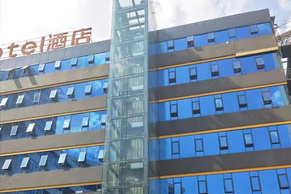 酒店玻璃幕墙+观光电梯