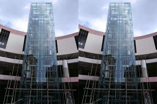 鋼結構加裝電梯-孟連縣中緬街商域