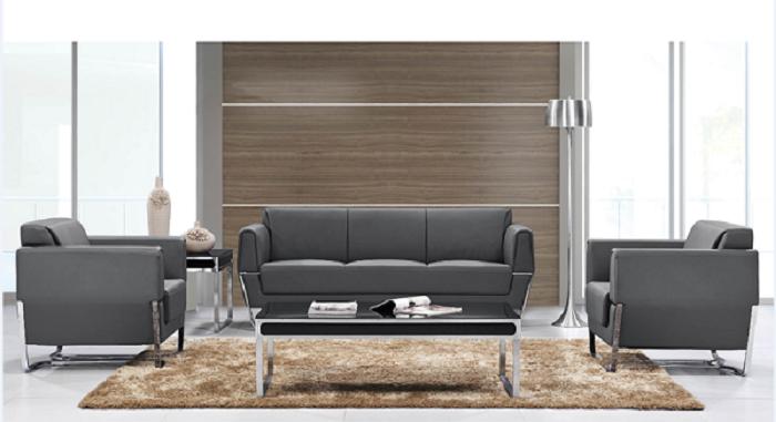 现代钢架小款沙发