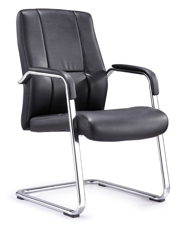 皮质会议椅班前椅弓字椅