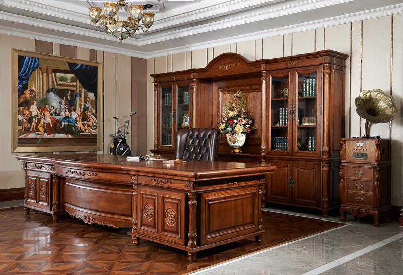 实木欧式办公桌