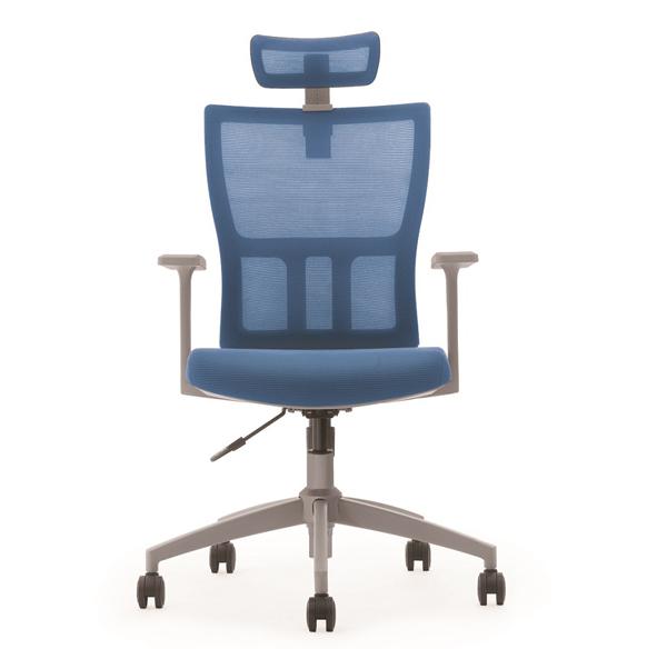 帶靠頭主管經理網布轉椅