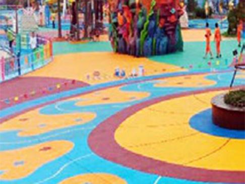 彩色透水混凝土地面