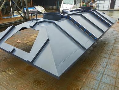 PFA反应器盖防腐喷涂