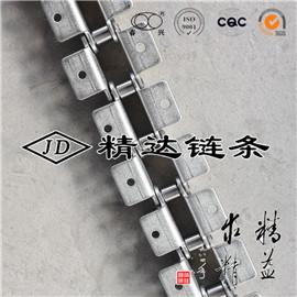双节距不锈钢链条带双侧K1附件