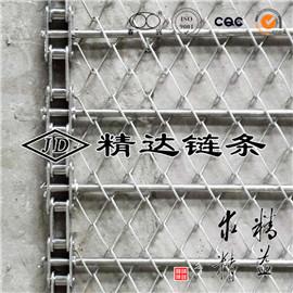 鍊片中孔串杆不鏽鋼鍊條輸送菱形網帶
