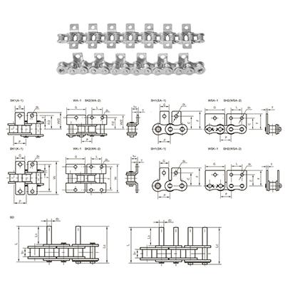 5.短节距滚子链条及附件