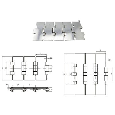 不锈钢输送用平顶链