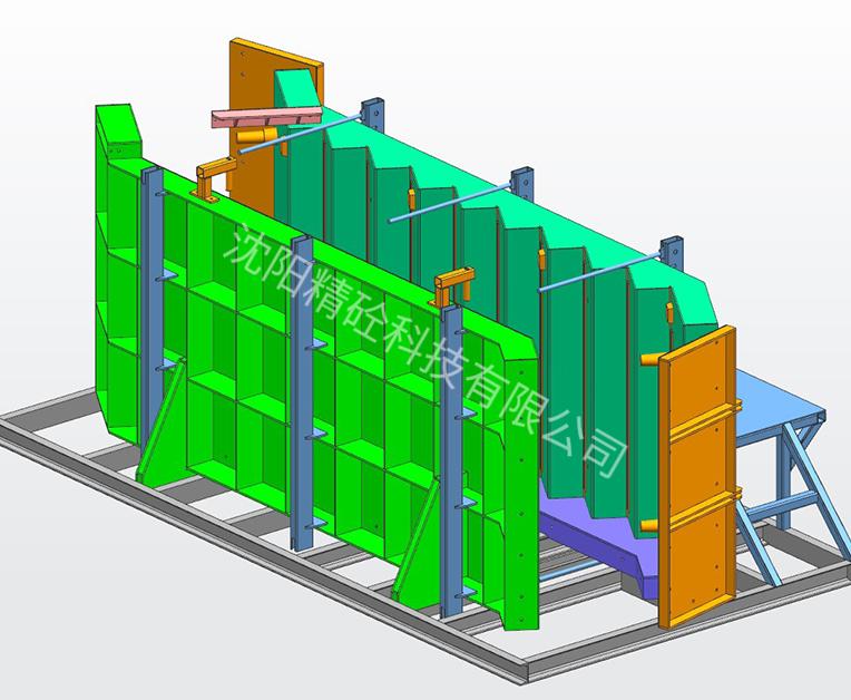 预制楼梯模具--推拉式