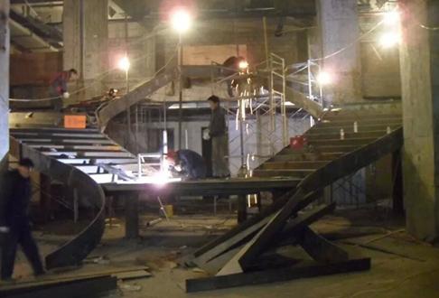 重庆钢结构施工案例现场