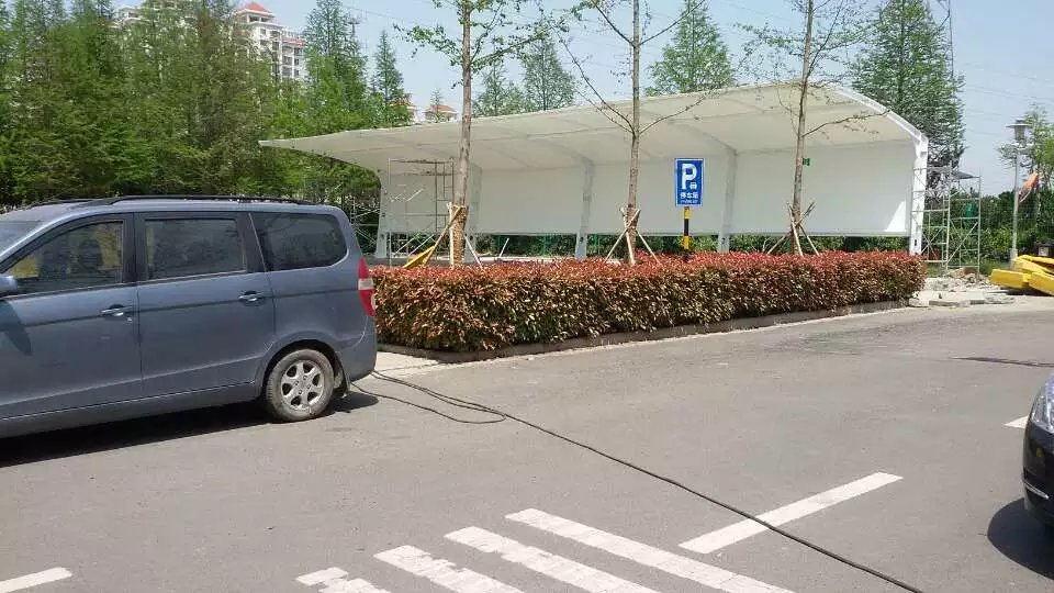 膜结构自行车停车棚