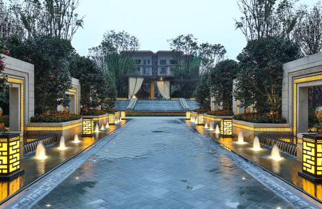 2018年夹江珠峰瓷砖厂在眉山景观花都陶瓷薄板砖供应案例