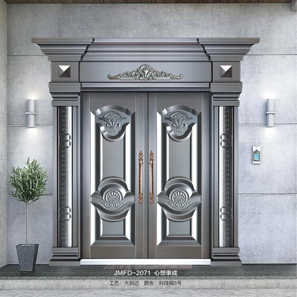 自建别墅大门怎样选择?将门府邸门业为您推荐铸铝门