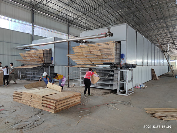 柳州市鹿寨縣單板烘干機案例(視頻)