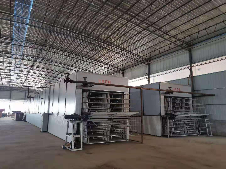 江蘇漣水立裝單板烘干生產機發貨現場