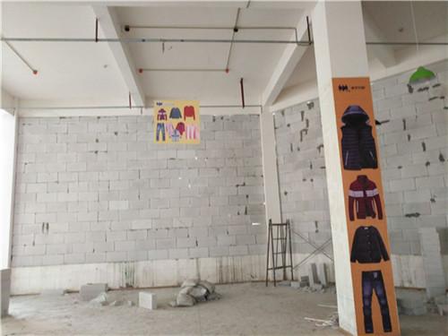 重庆大石坝学校隔墙施工