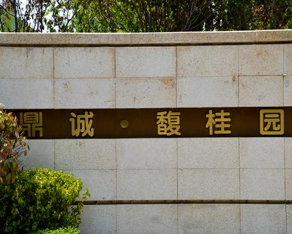 西安鼎诚馥桂园房地产全套室内外标识及精神堡垒制作安装案例